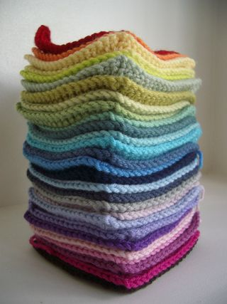 Stack of Solid Grannies 001