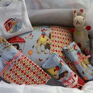 Blue vintage zoo gift set 005